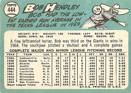 Bob Hendley (back) by you.