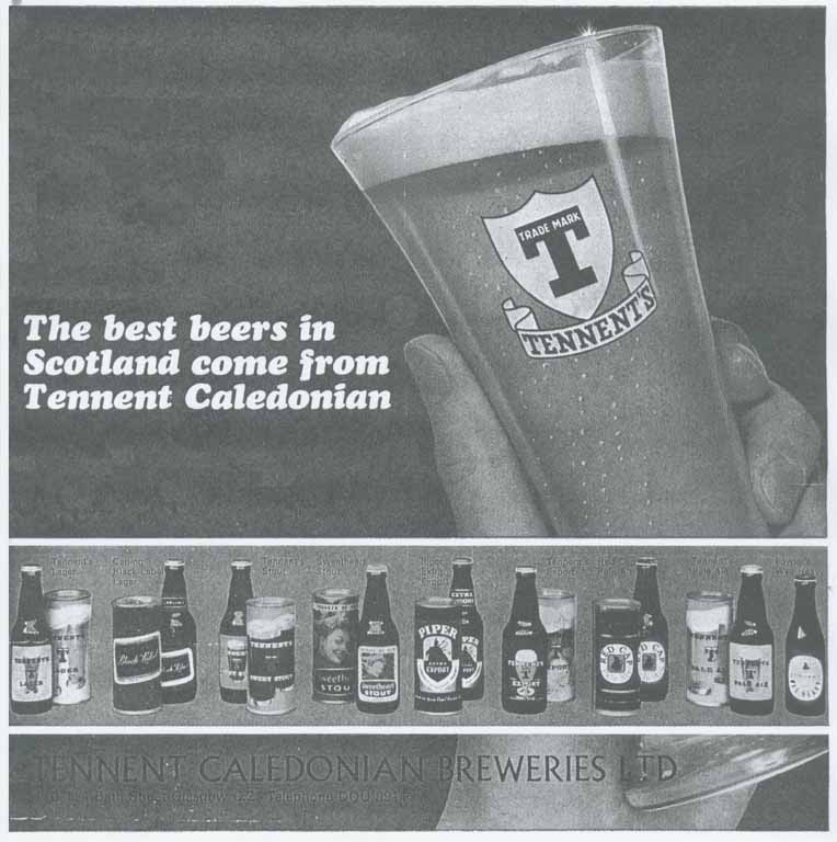 Tennent's canned beer range 1967