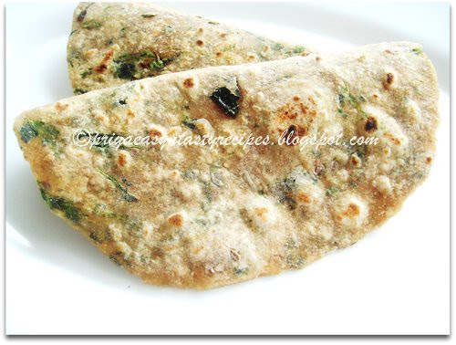 Flax seeds & Mixed Greens Paratha