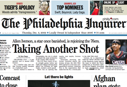 Philadelphia Daily News Front Page