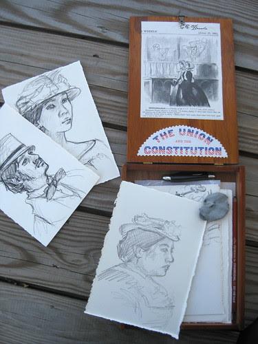 my reenacting drawing box