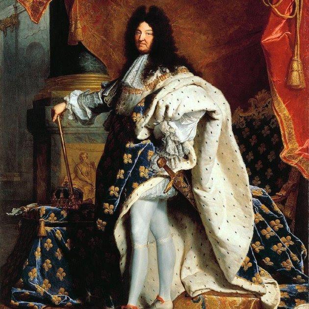 Lluis XIV. Retrat de Jacint Rigau Ros i Serra. Museu del Louvre
