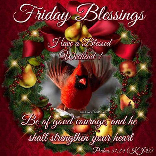Friday Blessings Christmas Quote Image Pictures Photos And Images