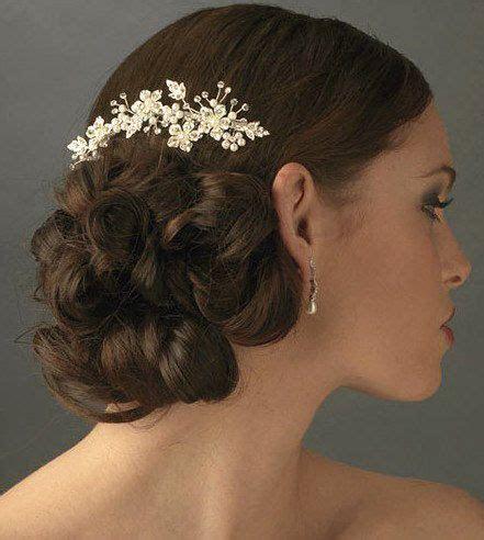 Czech Crystal rhinestones Bridal Hair Comb, Ivory pearl