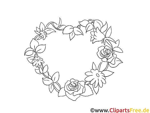 Blumen Ranken Bild zum Drucken und Malen