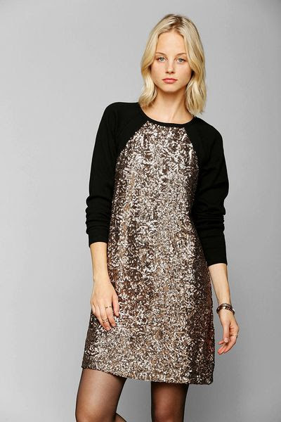 urban outfitters black multi somedays lovin corridor knit sequin dress product 1 14709219 500073683_large_flex