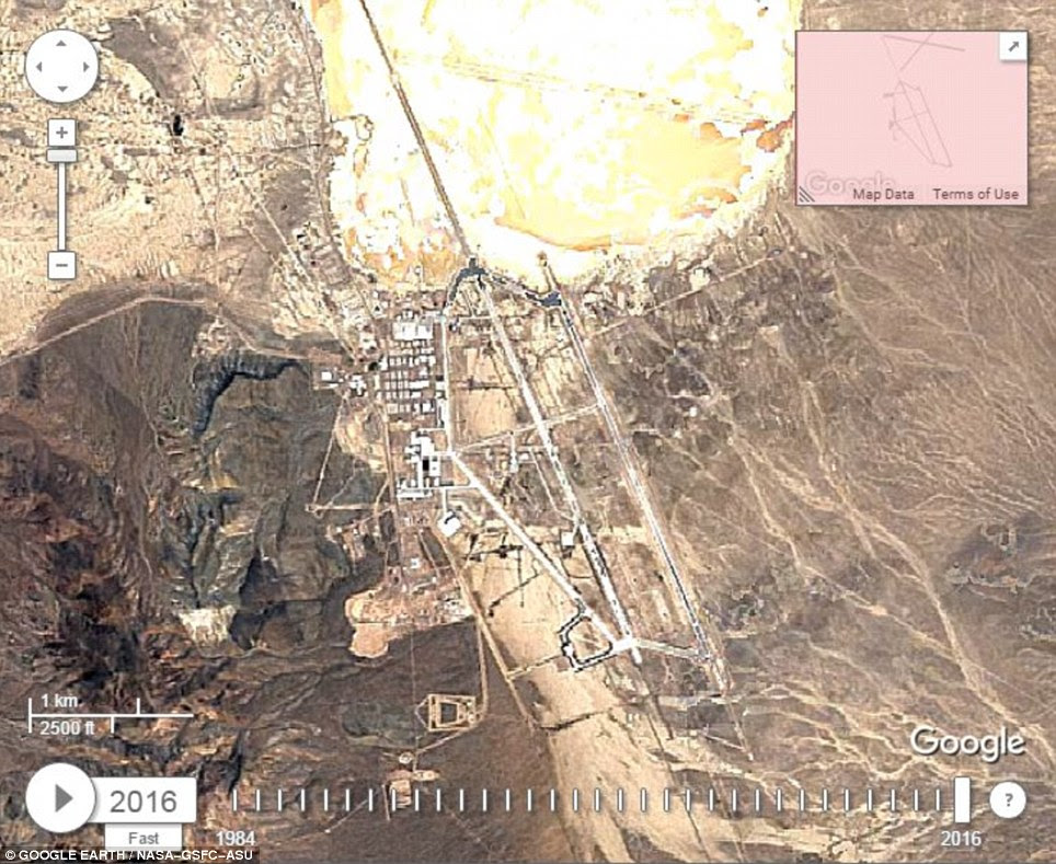 Area 51 Revealed In New Google Timelapse Video Daily