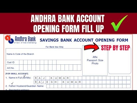 How to Fill Andhra Bank Account Opening Form: Andhra Bank Account Opening PDF Form Filling