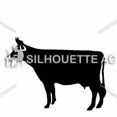 乳牛シルエット イラストの無料ダウンロードサイトシルエットac