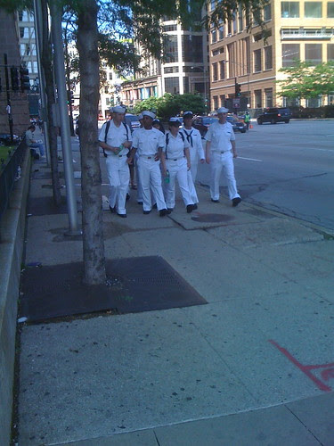 Sailors on stroll