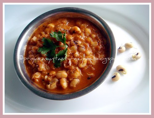 Sprouted Blackeyed Peas & Tomato Kurma