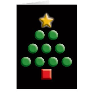 Graphic Christmas Tree Greeting Cards