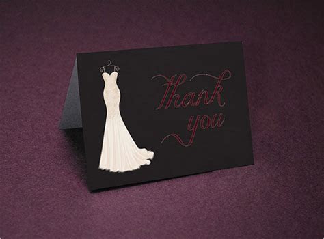16  Bridal Shower Thank You Cards   PSD, EPS, AI   Free