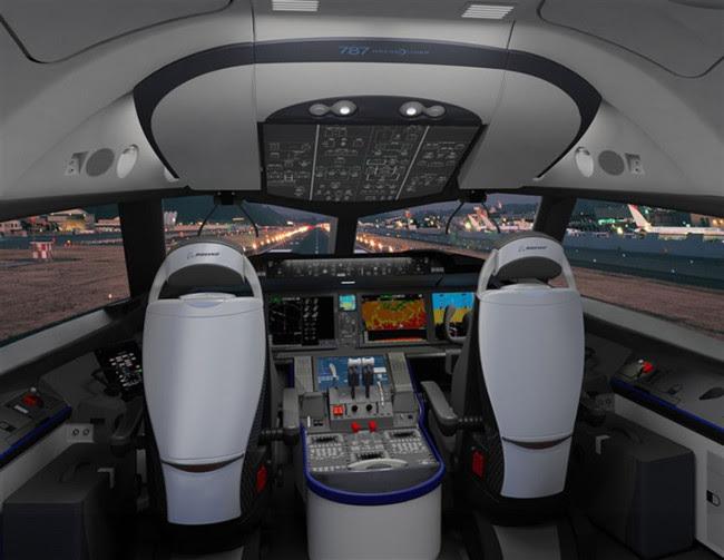 Boeing 787 Dreamliner Cockpit Photo