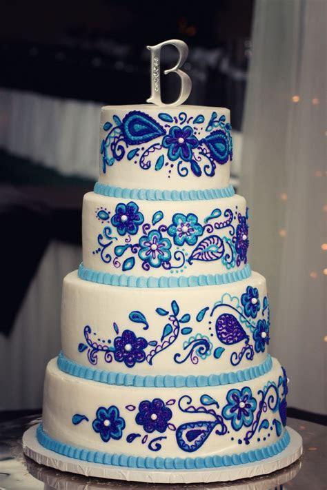 Purple and royal blue wedding cake   Our Wedding   Royal