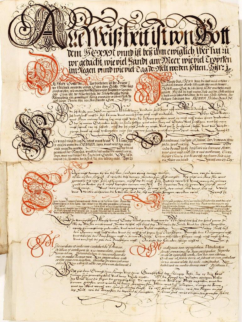 Kalligraphische Schriftvorlagen by Johann Hering a