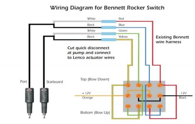 Bennett Rocker Switch Wiring Diagram, Bennett Trim Tab Pump Wiring Diagram