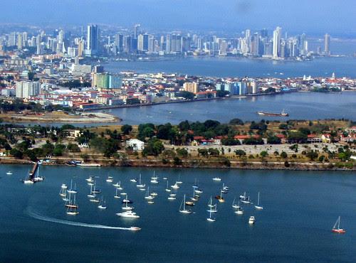 panama city from the sky
