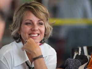 'Universidade é lugar de liberdade de expressão', diz  Cláudia Garcia Vicentini, coordenadora do curso de têxtil e moda da USP (Foto: Flávio Moraes/G1)