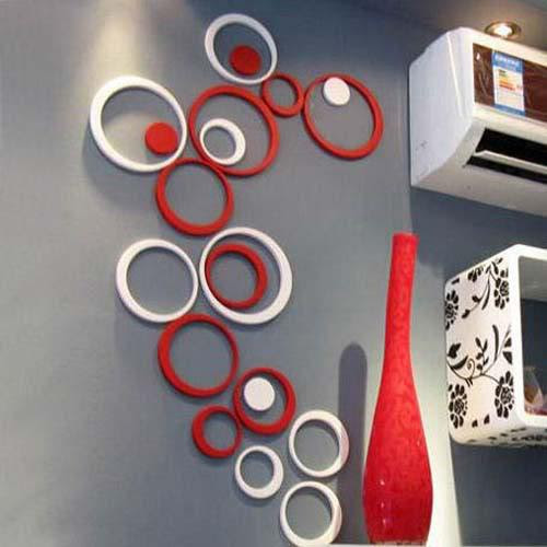 Best 5 Circles Ring Creative Stereo Wall Stickers Mural Indoor 3D