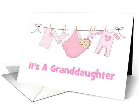 Birth Announcement/It's A Granddaughter/Baby/Clothes/Bunny