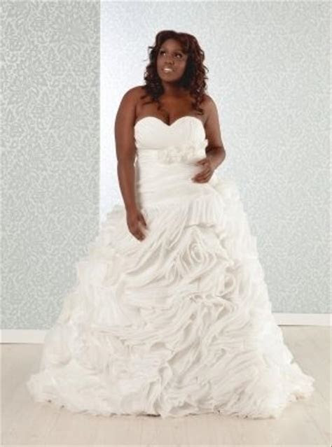 Real Size Bride Pricilla  plus Size Silk Organza Ball Gown