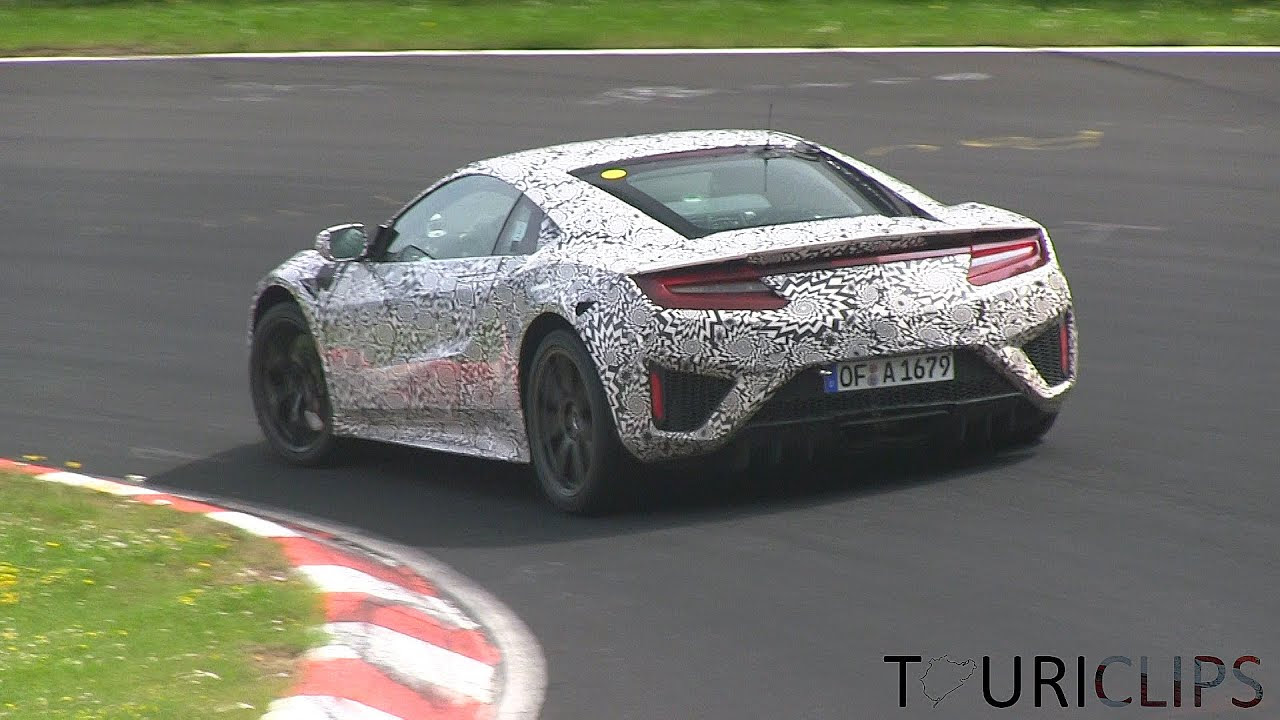 2015 Honda NSX spied testing on the Nürburgring ...