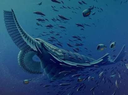 Dr. Jakob Vinther, da Universidade de Bristol, Inglaterra, disse que numa leitura da evolução estes artrópodes primitivos são, ecologicamente falando, como os tubarões e baleias da Era Cambriana Foto: YouTube/Nature / Reprodução