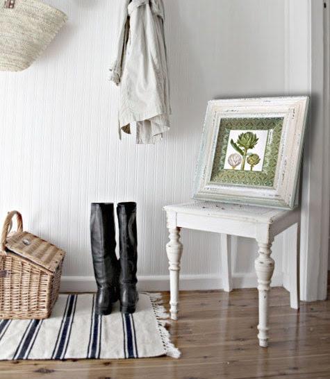 Green Artichokes Art / Cottage Decor / Decoupage Plate Wall Hanging / Naturalist Vegetable Art / green pink aqua pastel decor