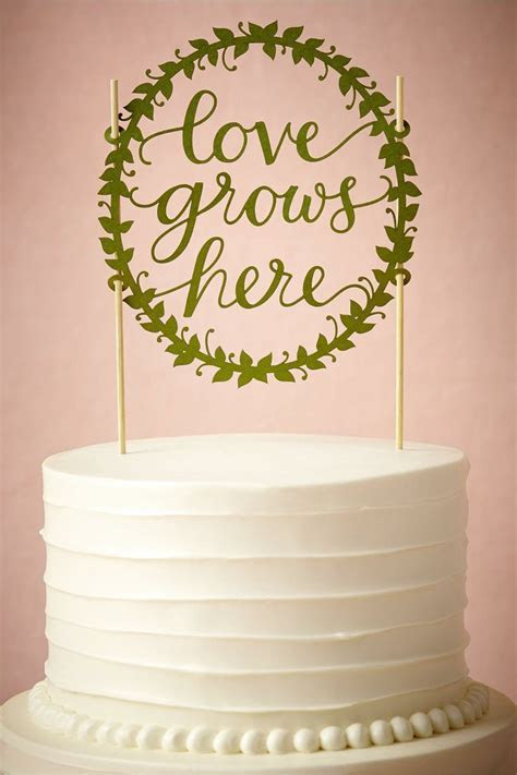 product   Love Grows Here Cake Topper from BHLDN   laser