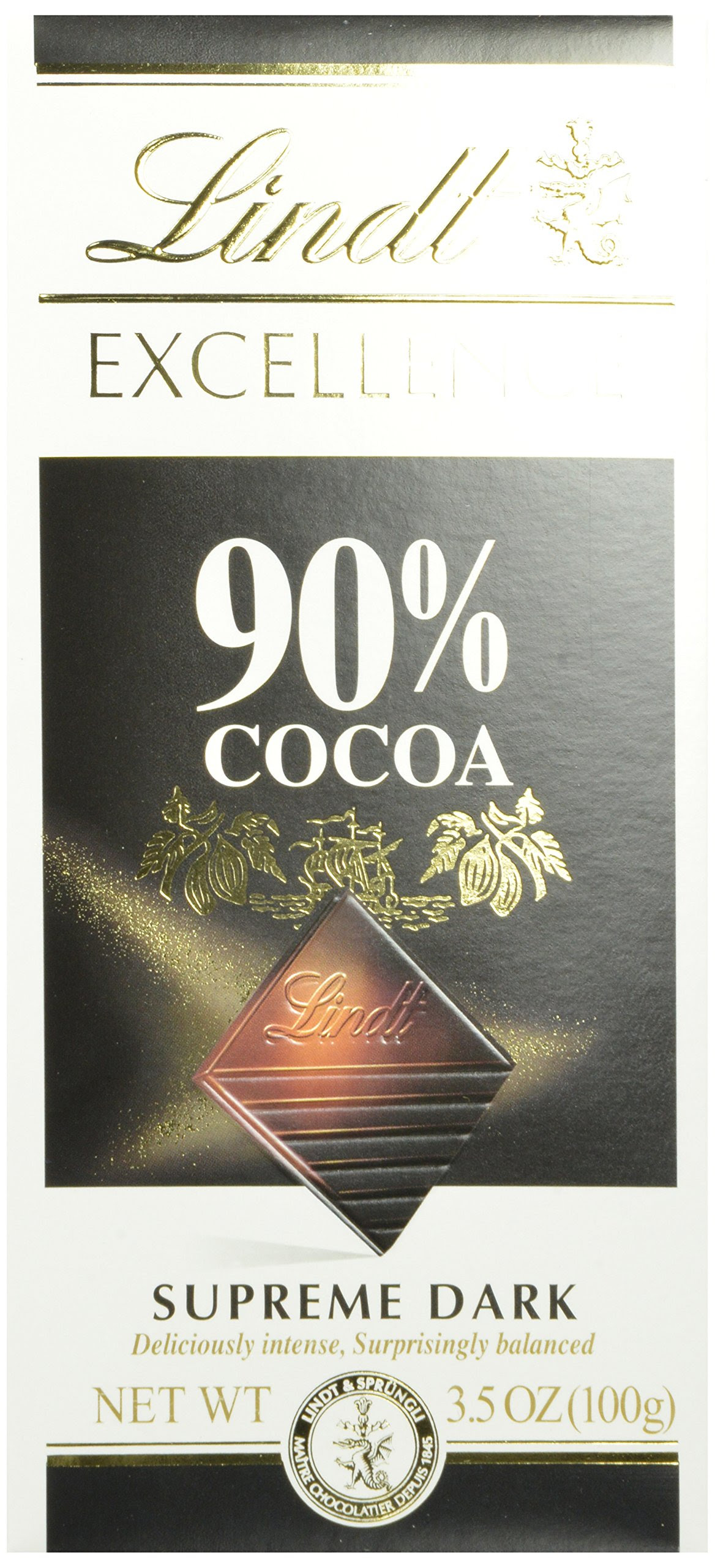 Lindt Excellence Supreme Dark Chocolate 90% Cocoa