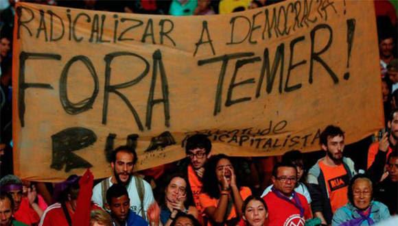 Trabajadores brasileños protestan en rechazo a medidas de Temer. Foto: Archivo.