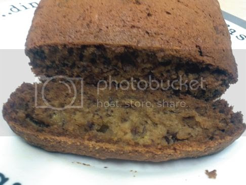 banana bread loaf with slice