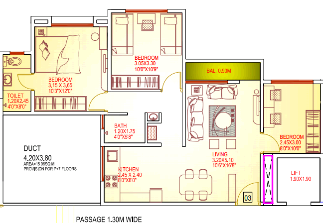 2.5 BHK Flat - 978 Saleable - for Rs. 29.35 Lakhs at Dajikaka Gadgil Developers' Anant-Shrishti - 1 BHK 2 BHK 3 BHK Flats Bungalow Plots - Kanhe Phata Talegaon - Pune 412 106