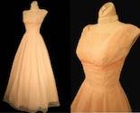 Vintage 40s 50s Harry Keiser Shelf Bust Pink  Party Wedding Dress