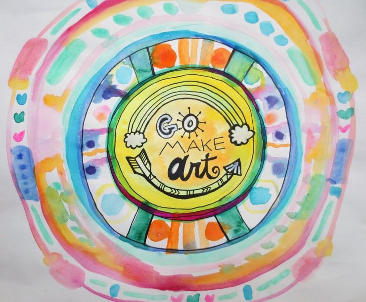 Watercolor Mandala Tutorial