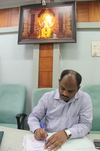 Raju Langewal  Treasurer Of Lalbagh Chya Raja Pandal by firoze shakir photographerno1
