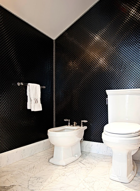 Black and White Bathroom - Contemporary - bathroom - Elizabeth ...
