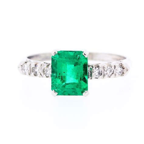 A Colombian Emerald Vintage Engagement Ring   Claude
