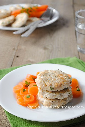 Hamburger di Pollo e Riso-Chicken and Rice Patties