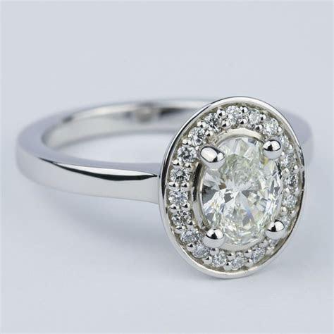 carat oval cut diamond  halo ring setting