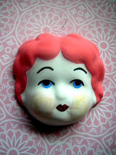 New: China Doll Heads! Pink!