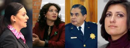 Nuvia Mayorga, Laura Vargas de Osorio, Ardelio Vargas Fosado y Lorena Cruz Sánchez. Fotos: Procesofoto