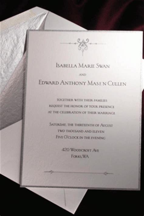 'Twilight: Breaking Dawn' Wedding Invitation Designer