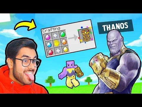 THANOS Gauntlet in Minecraft 😂| Hitesh KS