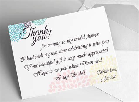 Bridal Shower Thank You Card Ideas