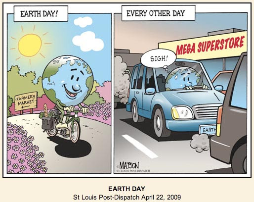 earth day 2009. It celebrates Earth Day, 2009.
