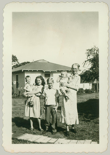Woman and four children