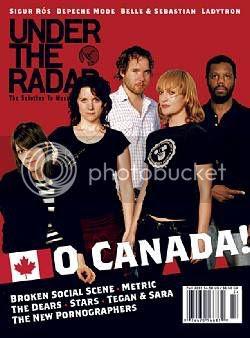 Under The Radar magazine cover - 'O Canada' issue