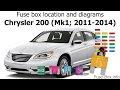 2012 Chrysler 200 Fuse Box Diagram